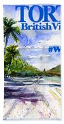 Tortola British Virgin Islands Shirt Beach Towel