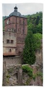 Torturm And Seltenleer Heidelberger Schloss Beach Towel