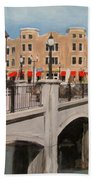 Tosa Village Bridge Beach Towel