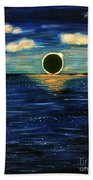 Totality On The Sea - Solar Eclipse  Beach Towel