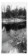 Touch Of Winter Black And White Beach Towel