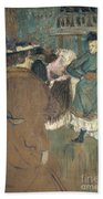 Toulouse-lautrec, 1892 Beach Towel