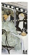 Toulouse-lautrec: Menu Beach Towel
