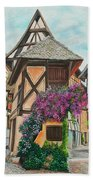 Touring In Eguisheim Beach Towel