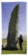 Tourist Admires The Trushal Stone Beach Towel