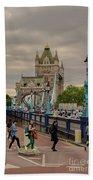 Towards Tower Bridge, London  Beach Towel
