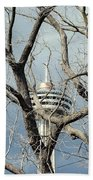 Tower And Trees Beach Towel