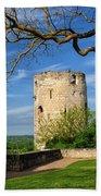 Tower At Chateau De Chinon Beach Towel