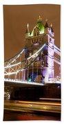 Tower Bridge Evening Beach Towel