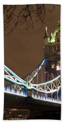 Tower Bridge Lights Beach Towel