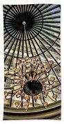 Tower Through Glass Dome In Bellagio Ceiling Beach Towel