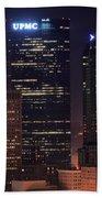 Towering Buildings Of Pittsburgh Beach Towel