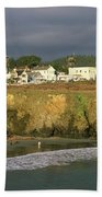 Town At The Seaside, Mendocino Beach Towel