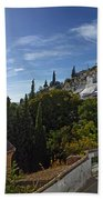 Town In A Valley, Sacromonte, Granada Beach Towel
