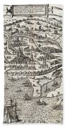Town Map Of Alexandria In Egypt Beach Towel