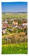 Town Of Ivanec Aerial Springtime View Beach Towel