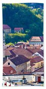 Town Of Krapina Rooftops View Beach Towel