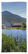 Town Square By The Pond At Waterville Valley Beach Towel
