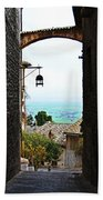 Town View In Italy Beach Towel