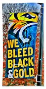 Towson Tigers Black And Gold Beach Towel