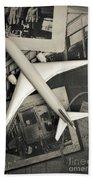 Toy Airplane Vintage Travel Beach Towel