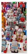 Toy Robots Beach Sheet