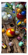 Toys And Marbles Beach Towel by Garry Gay