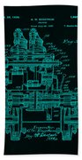 Tractor Patent Drawing 7f Beach Towel
