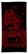 Tractor Patent Drawing 7j Beach Towel