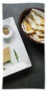 Traditional French Foie Gras Pate And Toast Starter Snack Platte Beach Towel