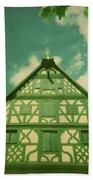 Traditional House Roth Germany Cross Process Holga Photography Beach Sheet