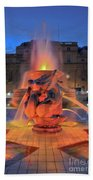 Trafalgar Square Fountain Beach Towel