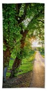 Trail Into Sunset Beach Towel