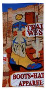Trail West Mural Beach Towel