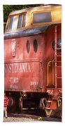 Train - Car - Pennsylvania Northern Region Caboose 477823 Beach Towel
