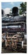 Train - Engine - 385 - Baldwin 2-8-0 Consolidation Locomotive Beach Towel