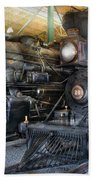 Train - Engine - Steam Locomotives Beach Towel