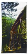 Train Bridge Beach Towel