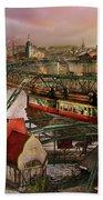 Train Station - Wuppertal Suspension Railway 1913 Beach Sheet