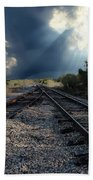 Train Track Junction In Charleston Sc Beach Towel