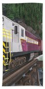 Trainmaster At Myra Beach Towel