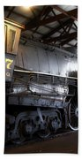 Trains 3007 C B Q Steam Engine Beach Sheet