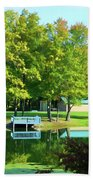 Tranquil Landscape At A Lake 4 Beach Towel