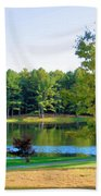 Tranquil Landscape At A Lake 6 Beach Towel