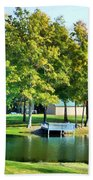 Tranquil Landscape At A Lake 8 Beach Towel