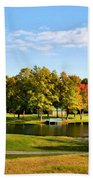 Tranquil Landscape At A Lake 9 Beach Towel