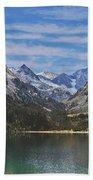 Tranquil Mountain Lake Beach Towel