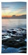 Tranquil Sunrise At Coral Cove Beach Beach Towel