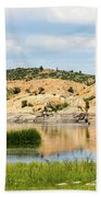 Tranquil Willow Lake Beach Towel