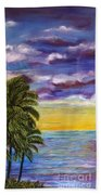 Tranquility At Kapoho Last Sunset Beach Towel